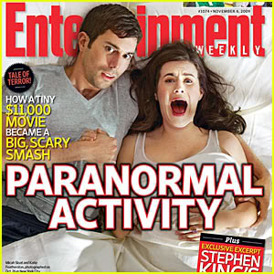 Micah and Katie on the cover of Entertainment Weekly