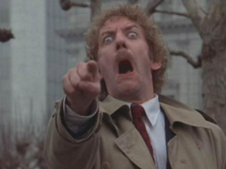 Donald Sutherland in Invasion of the body Snatchers.